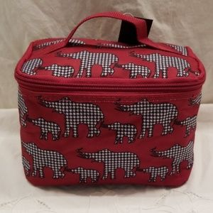 Handbags - Houndstooth cosmetic or jewelry case elephant